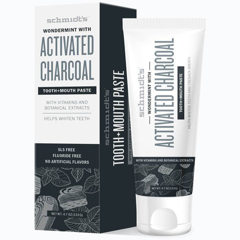 <br>Schmidt's Naturals</br> Activated Charcoal with Wondermint Tooth+Mouthpaste *New*