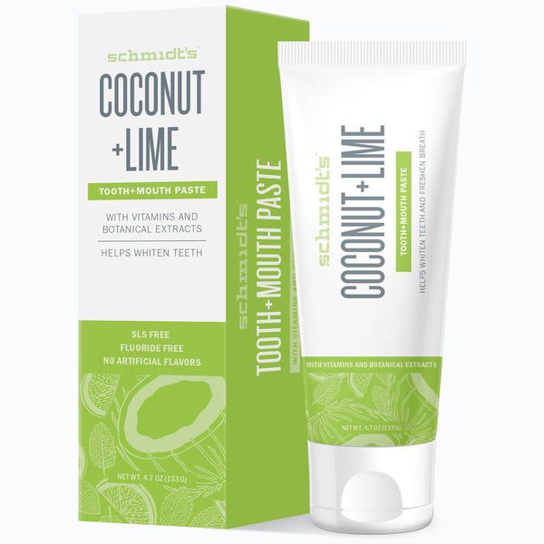 <br>Schmidt's Naturals</br> Coconut+Lime Tooth+Mouthpaste *New*