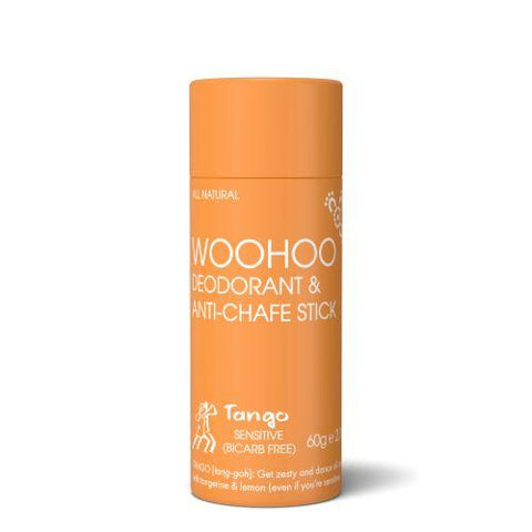<br>HAPPY SKINCARE</br> Woohoo! All Natural Deodorant & Anti-Chafe Stick - Tango - *NEW*