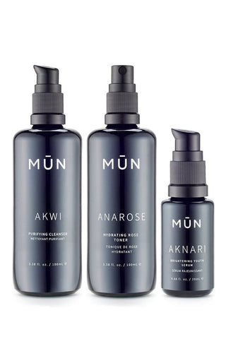<br>MUN</br> Daily Face Essentials (Cleanser, Toner, Youth Serum)