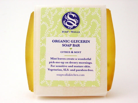 <br>Soapwalla</br> Citrus Mint Soap Bar