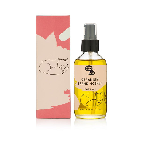 <br>Meow Meow Tweet</br> Geranium Frankincense Body Oil