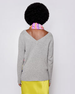 Makeda, RE- Imagined 100% cashmere pullover