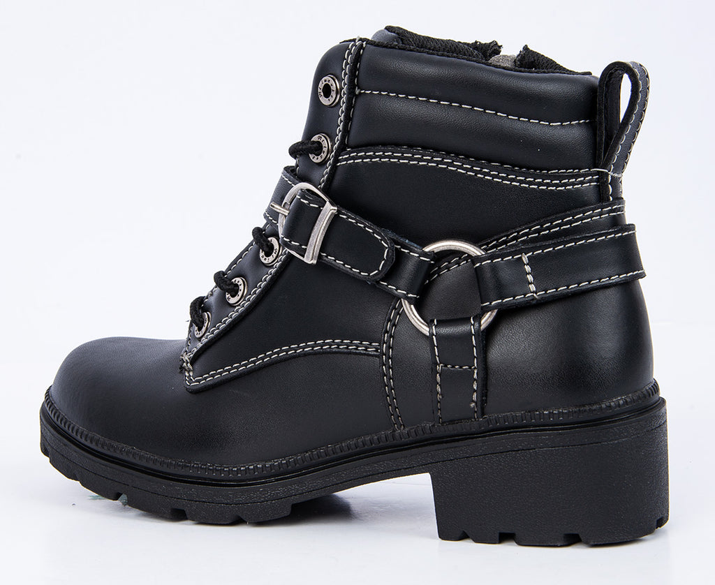 Milwaukee Motorcycle Clothing Company Womens Paragon Boots Black, Size 10