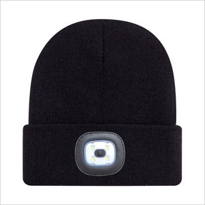 Black Toque with LED Light - AJM 9X539M