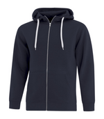 Mens Full-Zip Hoodie - Cotton/Polyester - ATC F2018