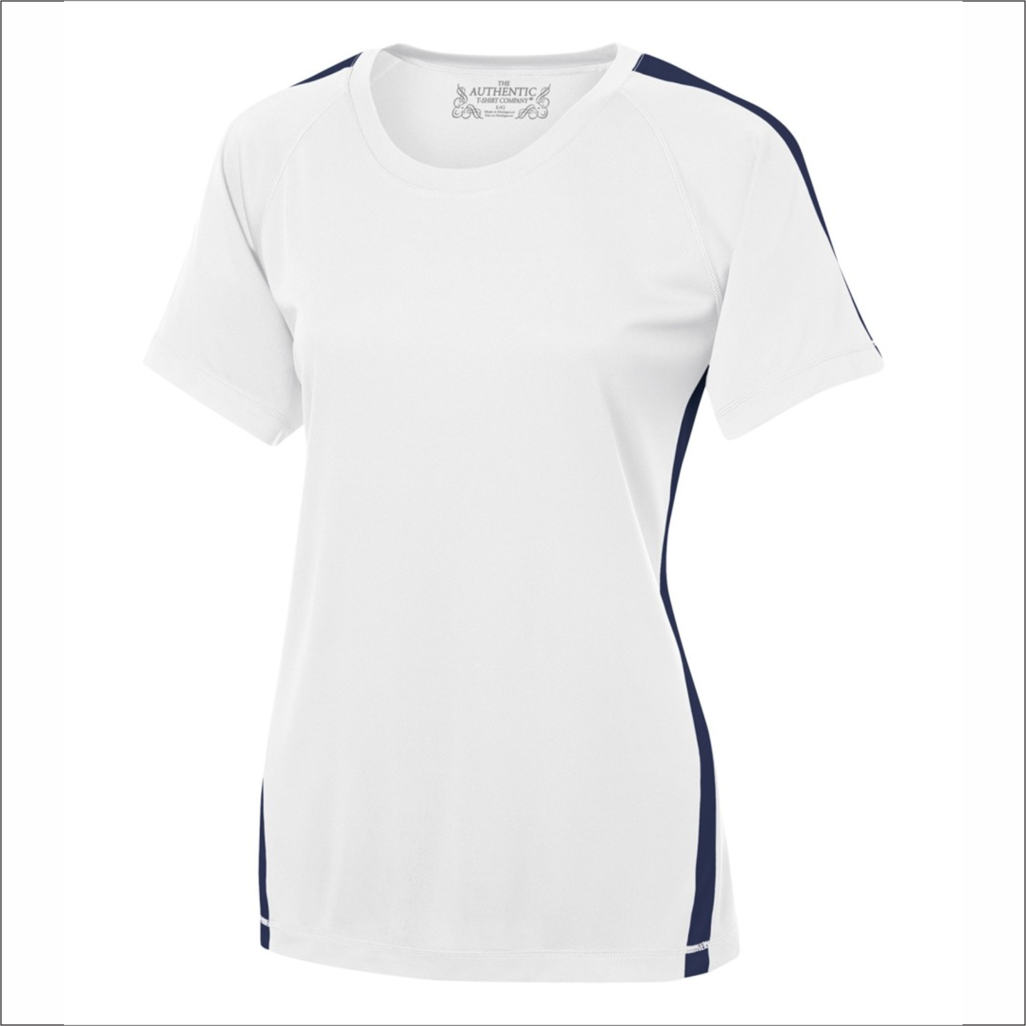 Ladies T-Shirt with Stripe - Polyester - ATC L3519