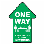 "One Way Arrow - 5.5"" x 8"" Decal"