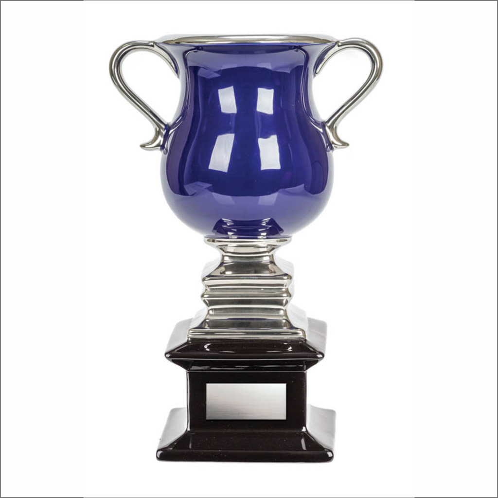 Ceramic Cup - Blue/Silver - Contempo series