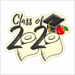 "Graduation Decals - 8"" wide - Class of 2020"