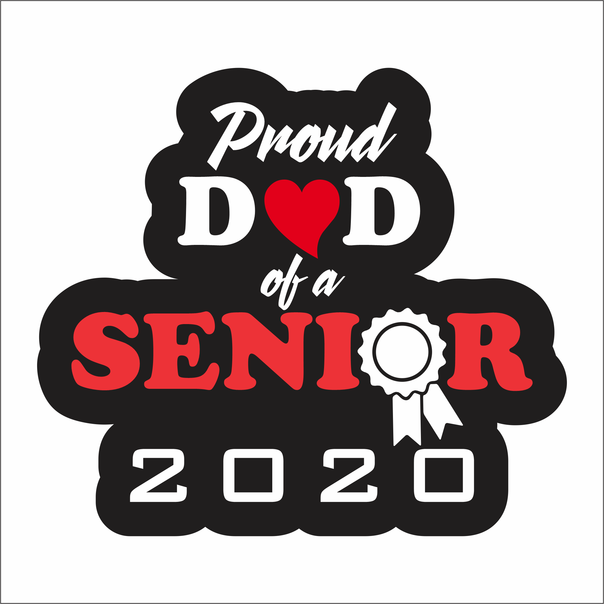 "Graduation Decals - 8"" wide - Proud Relative"