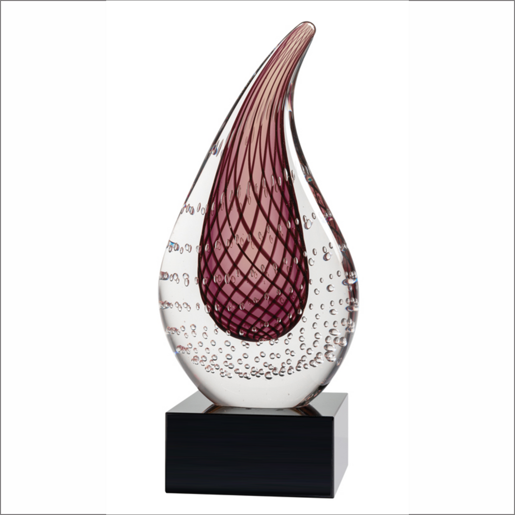 "Mauve Flame - 8"" - Art Glass Award"
