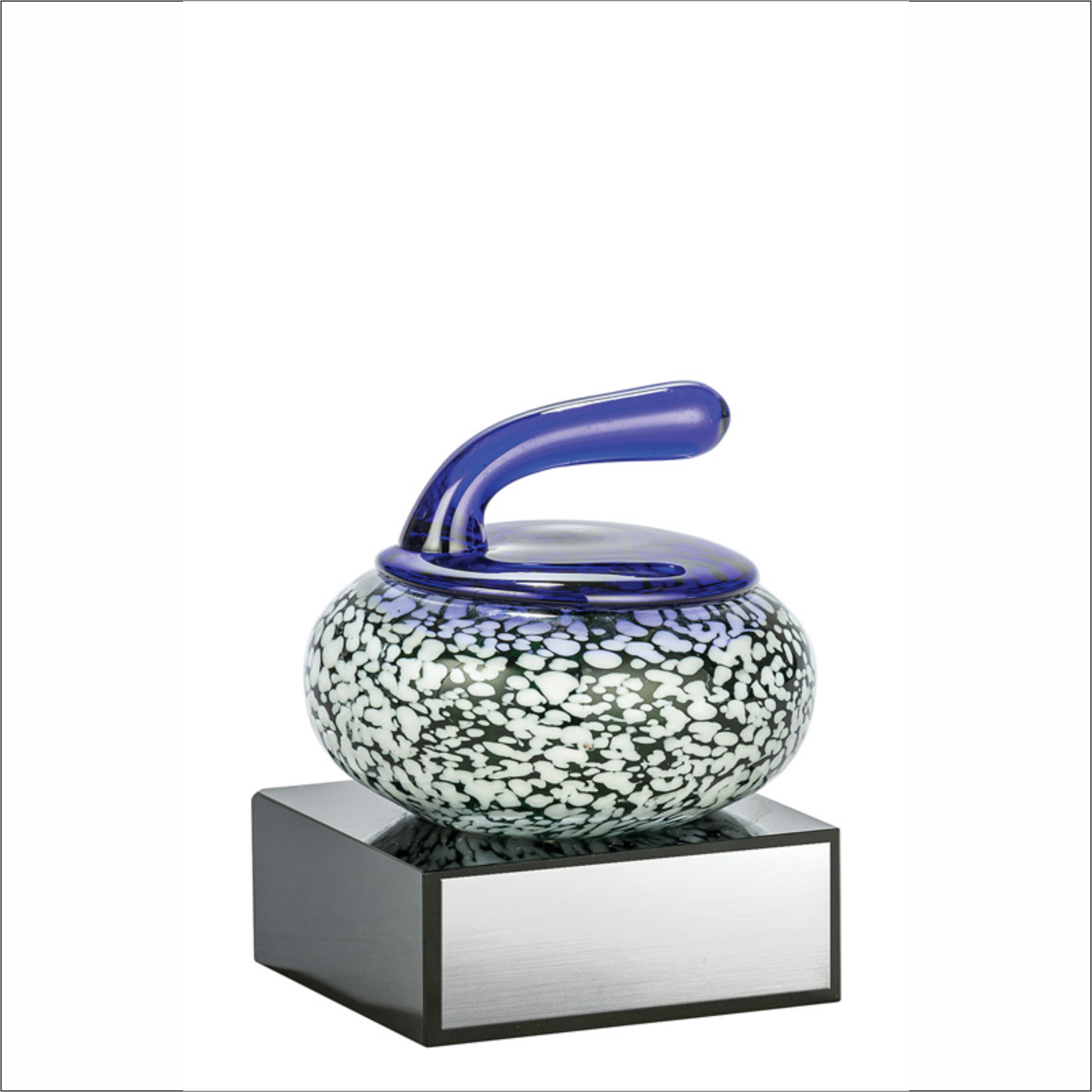"Curling Stone - 4⅜"" - Art Glass Award"
