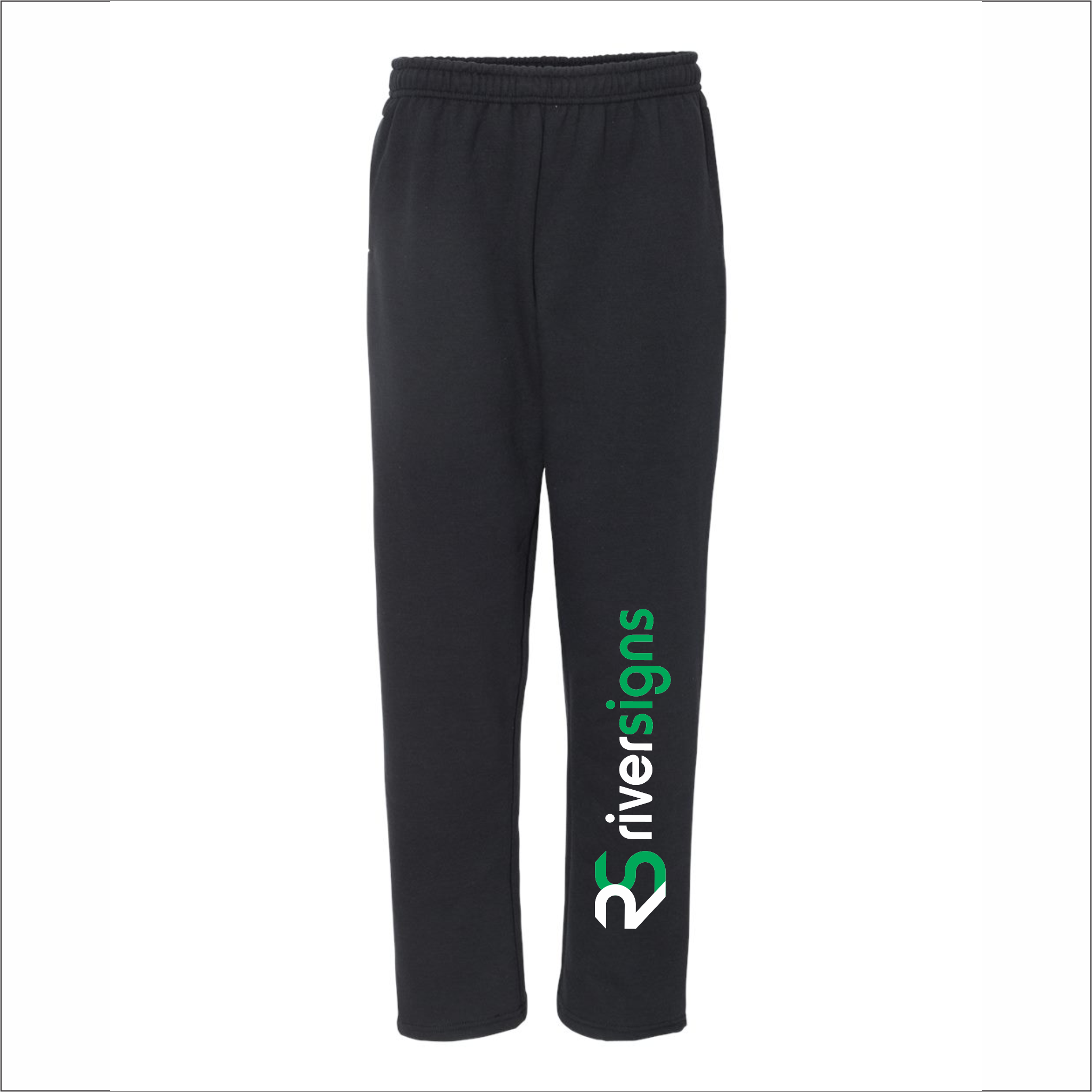 Adult Sweatpants - Open-Bottom with Pockets - Gildan 18300