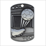 "Soccer 1.25"" X 2"" medallion - Dog Tags series"