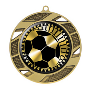 "Soccer 2.75"" medallion - Solar series"