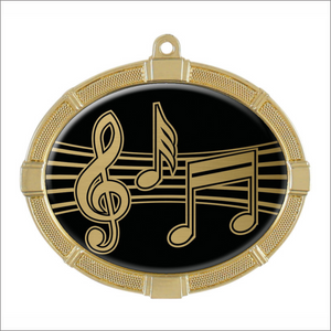 "Music 3.375"" X 2.625"" medallion - Impact series"