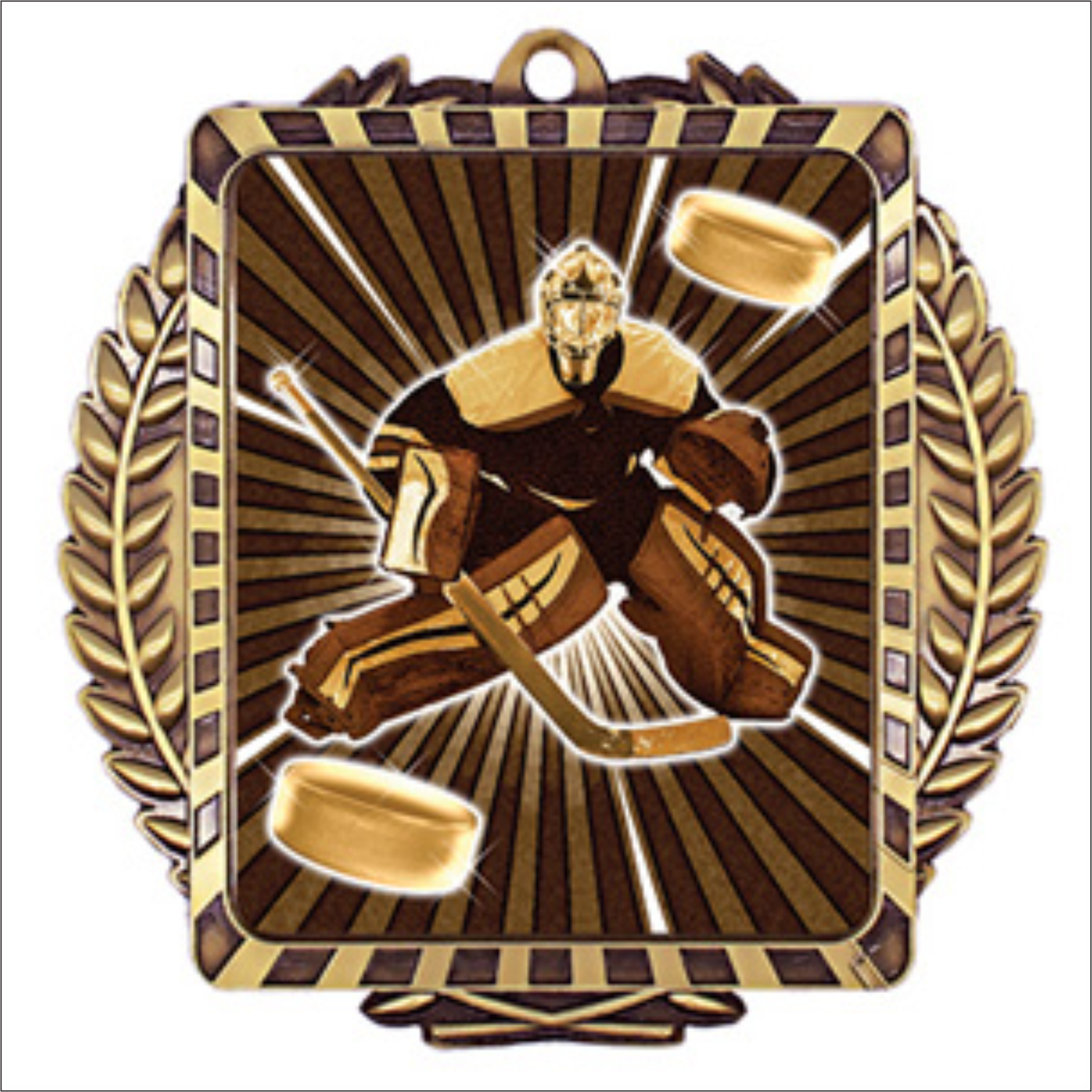 "Hockey Goalie 3.5"" X 3.5"" medallion - Lynx series"
