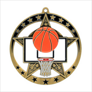 "Basketball 2.75"" medallion - Star series"