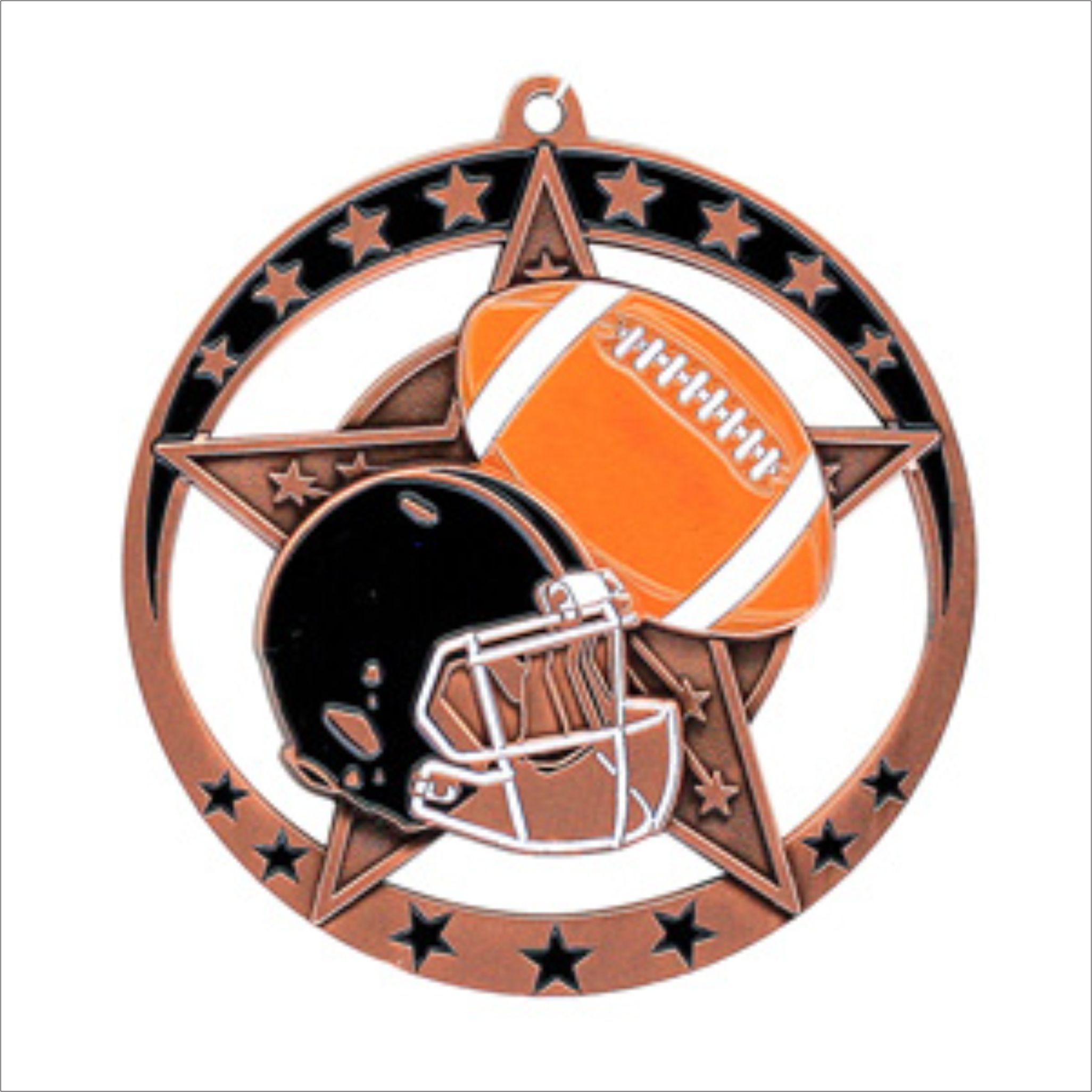 "Football 2.75"" medallion - Star series"