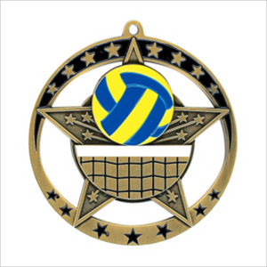 "Volleyball 2.75"" medallion - Star series"
