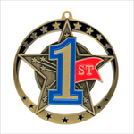 "First Place 2.75"" medallion - Star series"