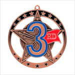 "Third Place 2.75"" medallion - Star series"