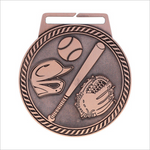 "Baseball 3"" medallion - Titan series"