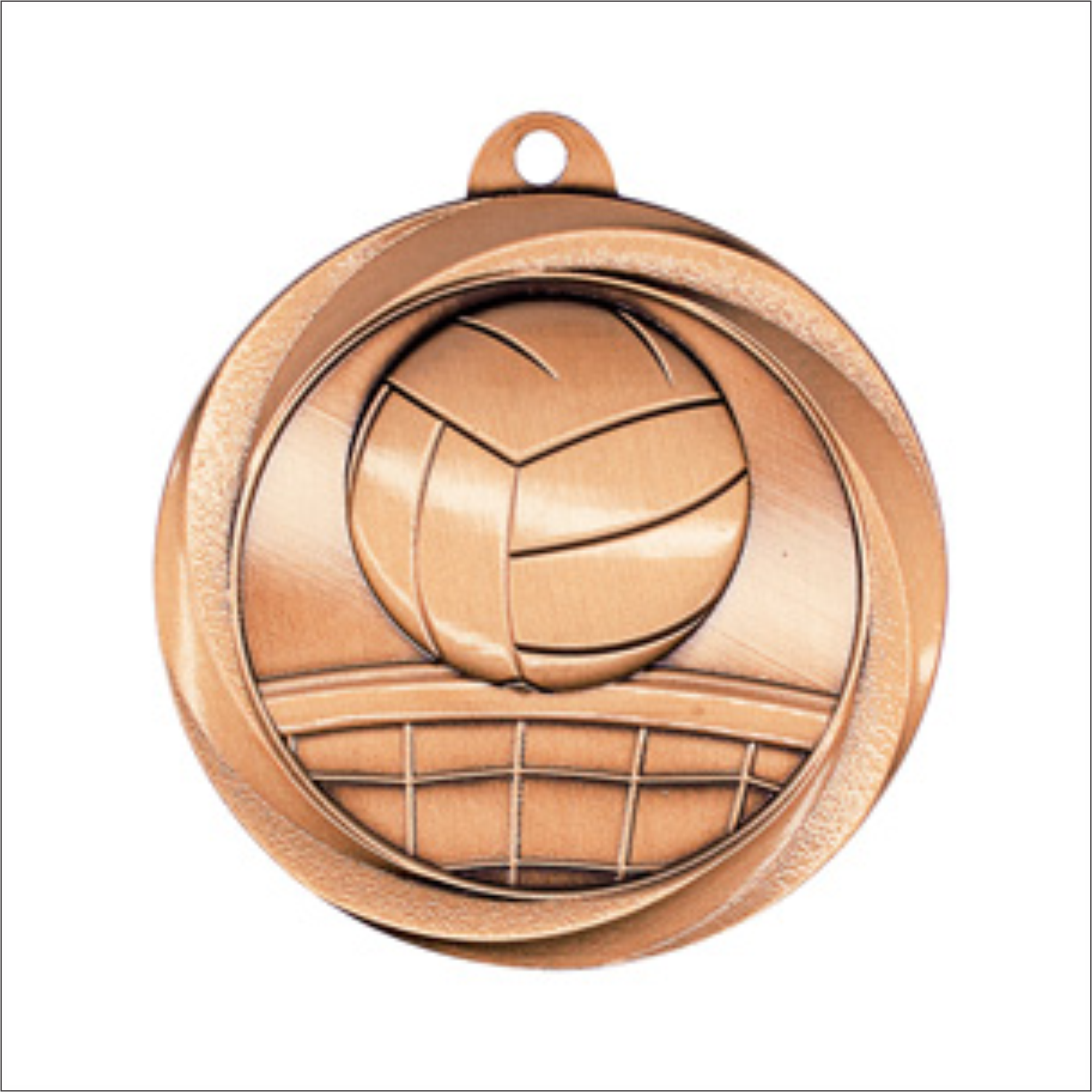 "Volleyball 2"" medallion - Vortex series"