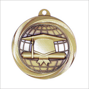 "Graduation 2"" medallion - Vortex series"