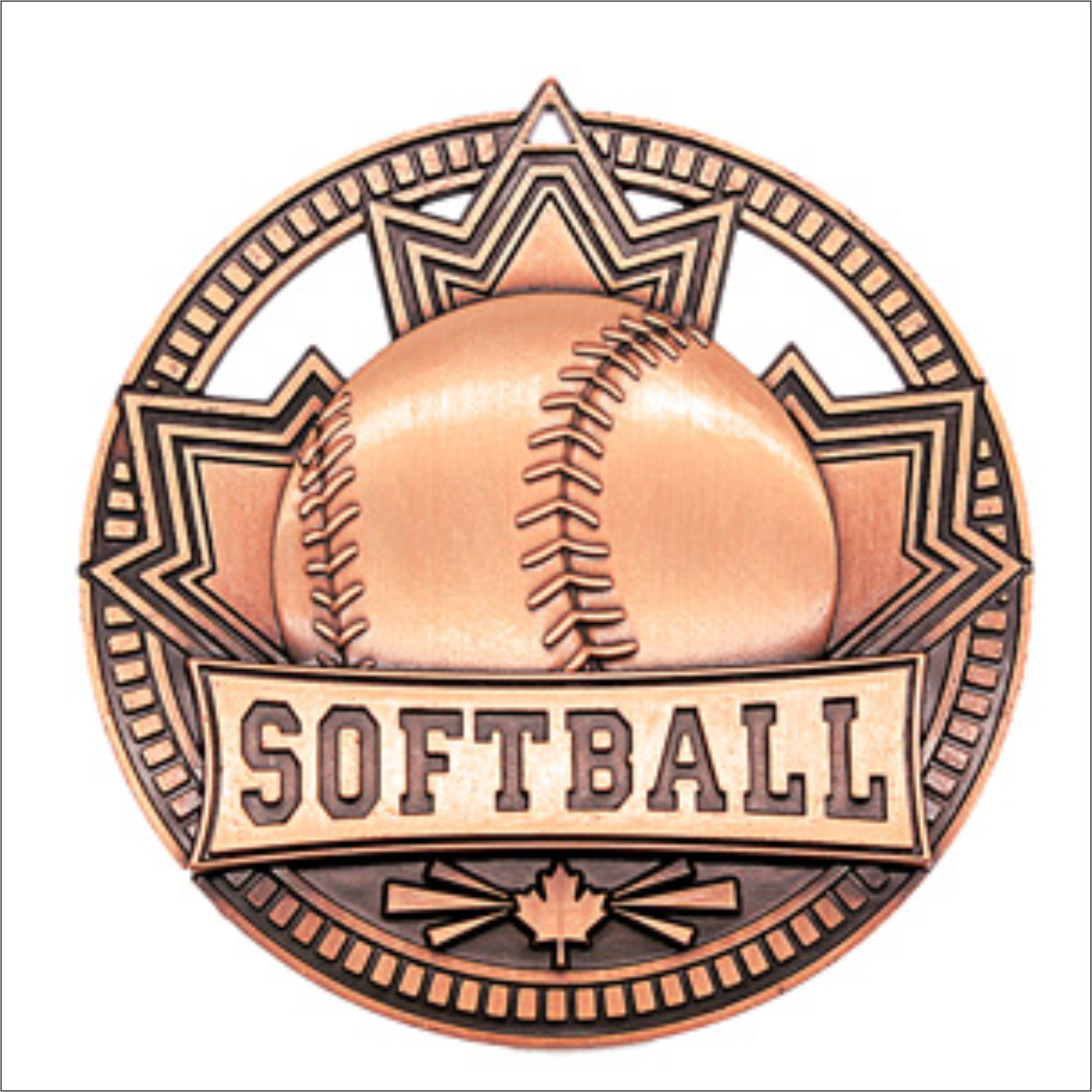 "Softball 2.75"" medallion - Patriot series"