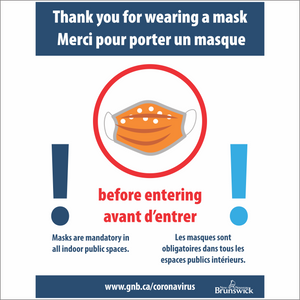 Masks are mandatory sign