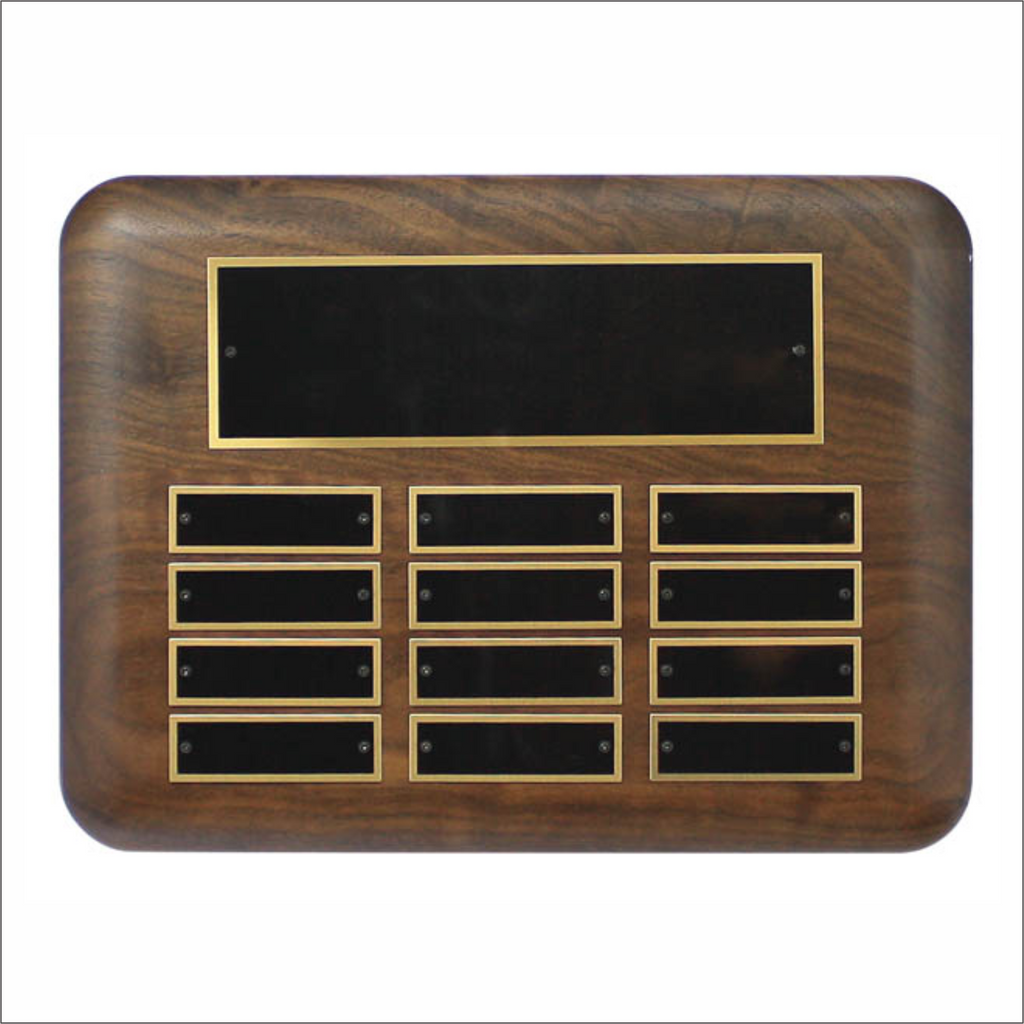 Solid Walnut horizontal plaque - Perpetual series