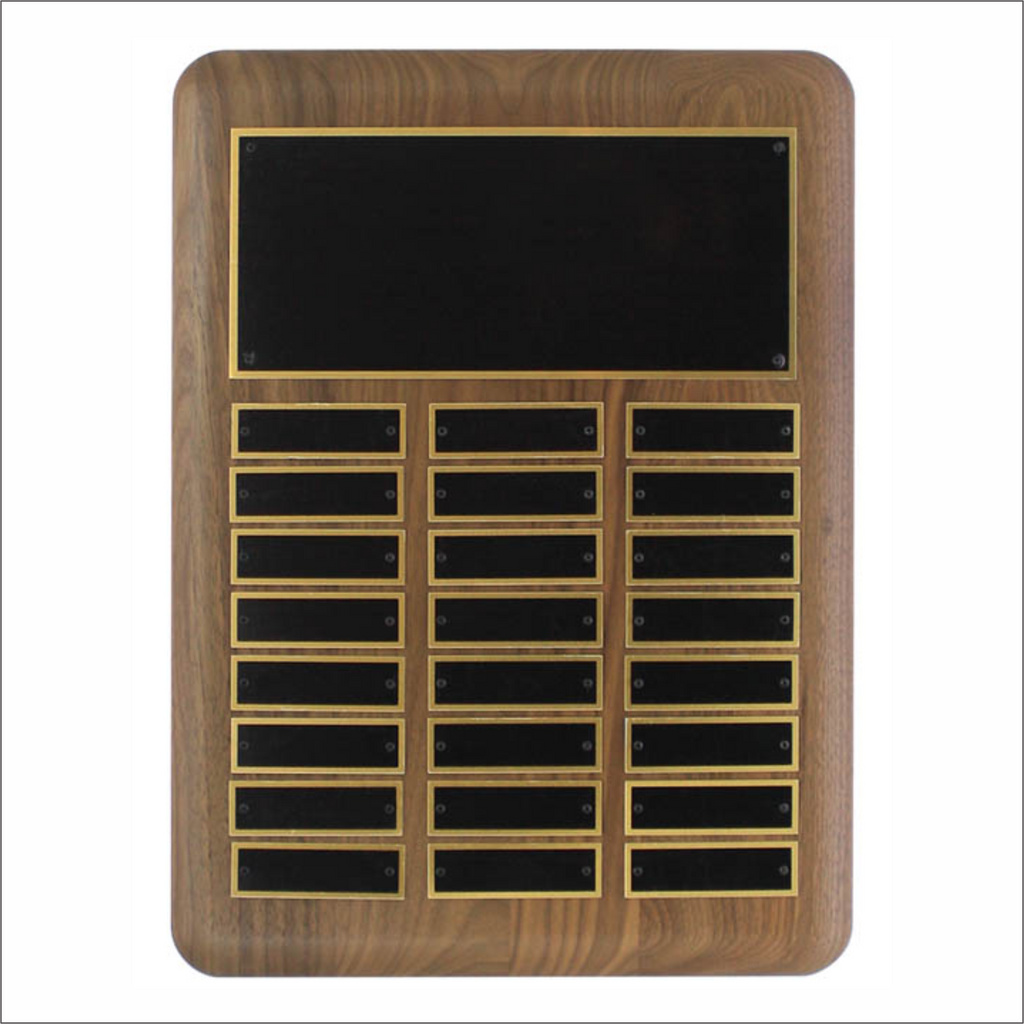 Solid Walnut vertical plaque - Perpetual series