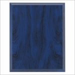 Blue Wood plaque - Laser series