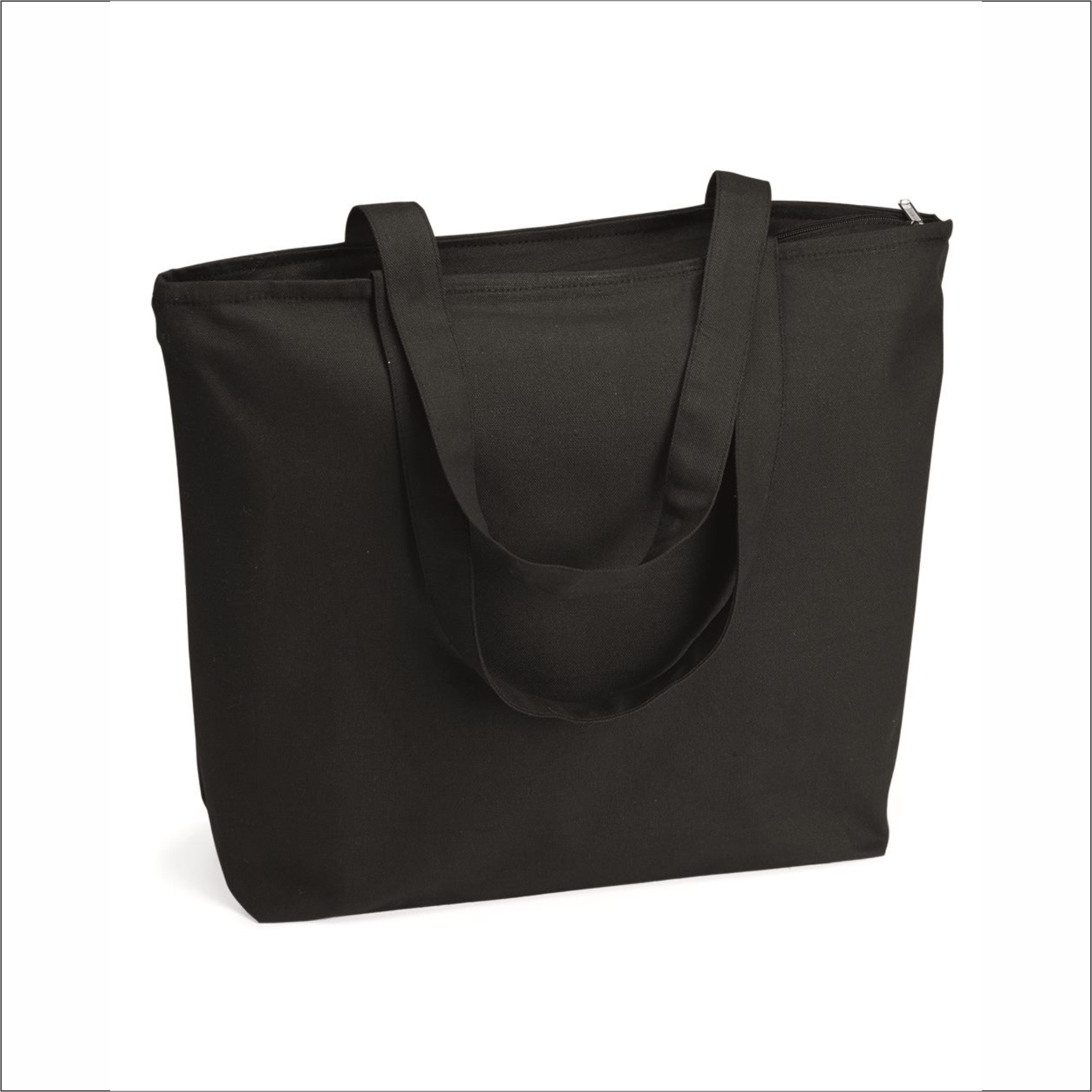 Tote Bag with Zipper - Q-Tees - Q611