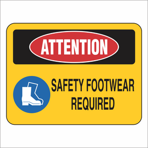 Safety Footwear Required - Attention - Sign