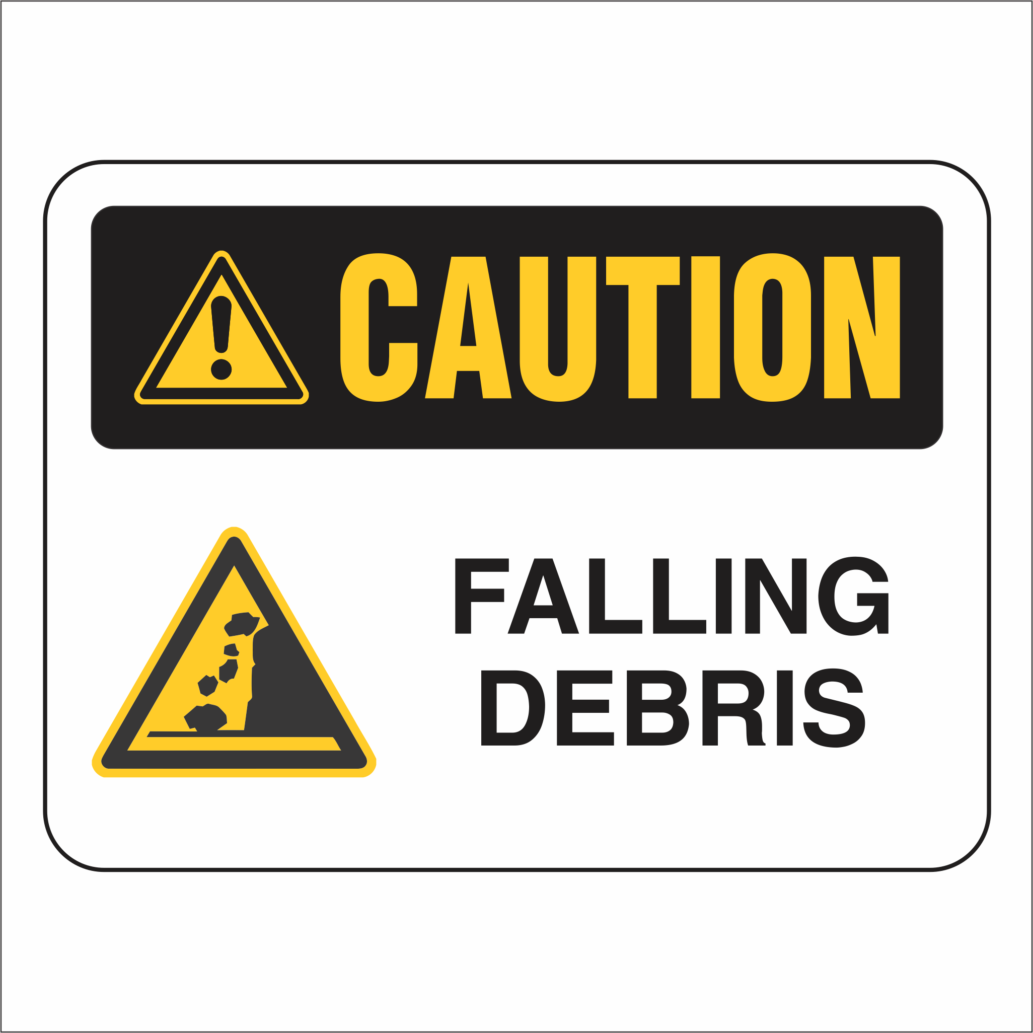 Falling Debris - Caution - Sign