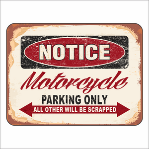 Motorcycle Parking Only - Notice - Sign