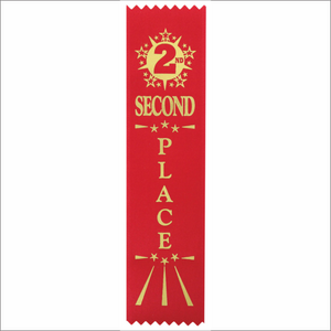 Second Place Ribbons - Pack of 25 - SR-200 series