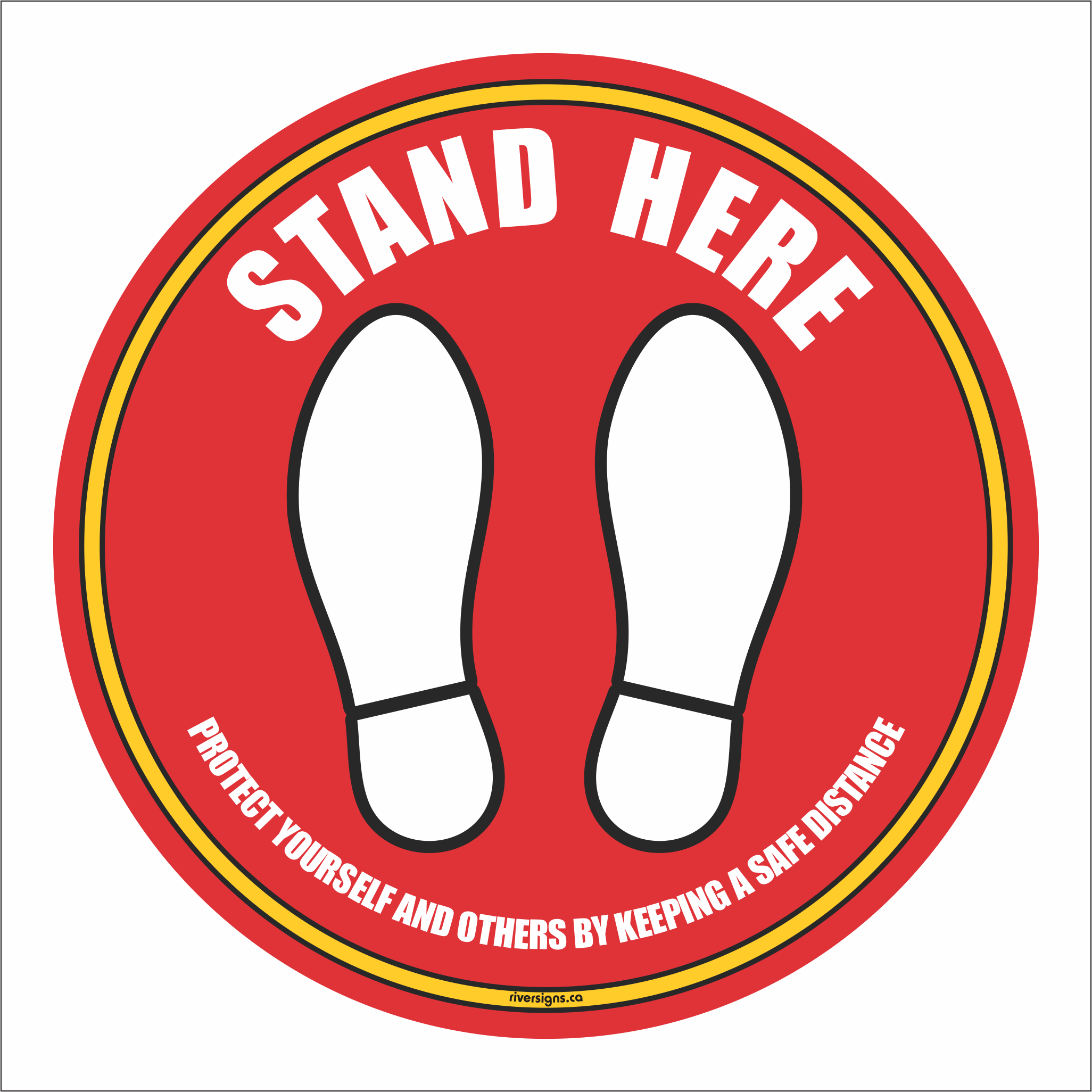 "Stand Here Decal - 16"" diameter"