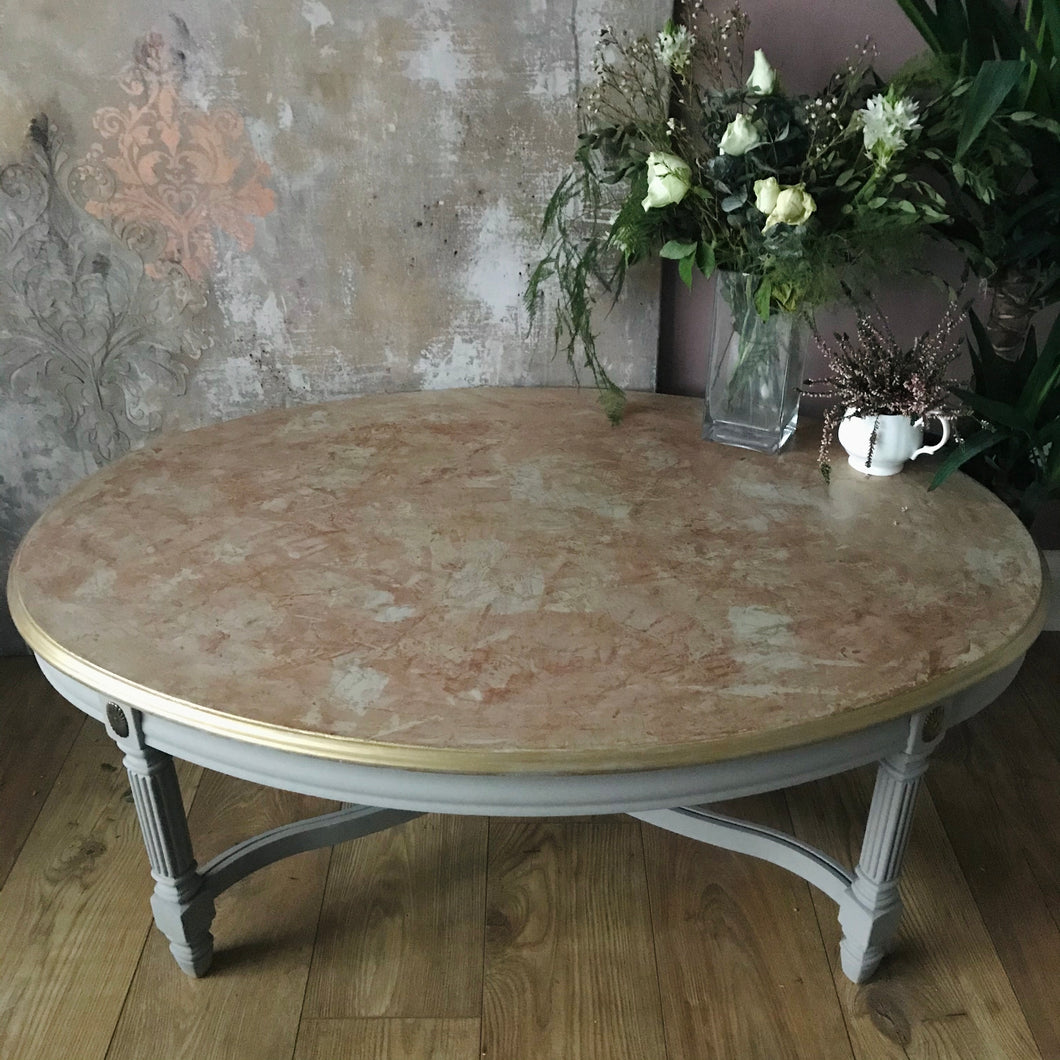Polished Plaster Topped Coffee Table