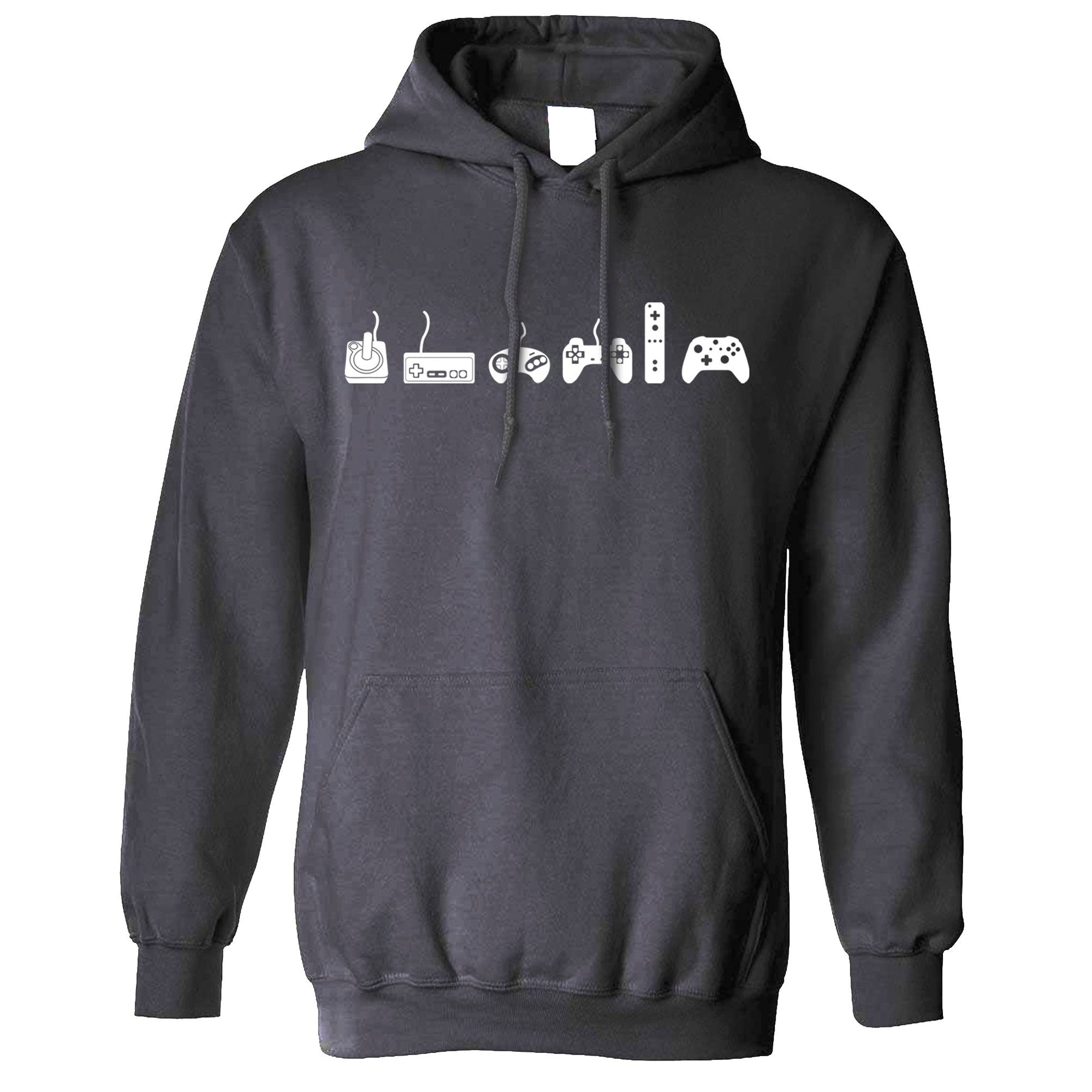 Gaming Hoodie Evolution Of A Video Game Controller Hooded Jumper