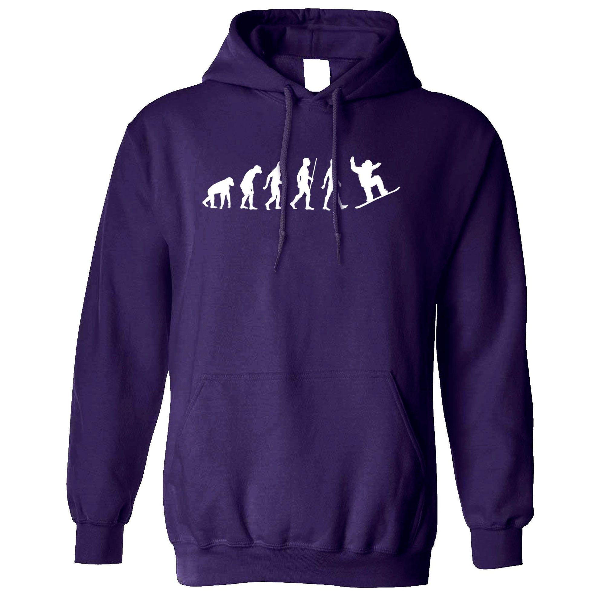 Sports Hoodie The Evolution Of A Snowboarder Hooded Jumper