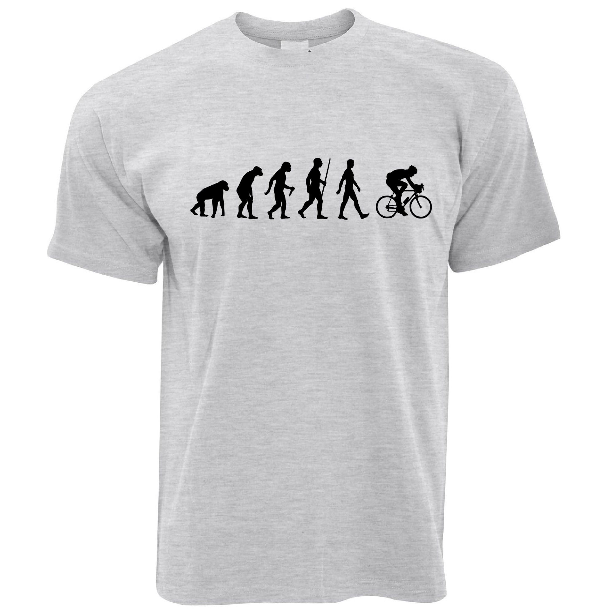 Mens Novelty T Shirt The Evolution of Cycling Tee