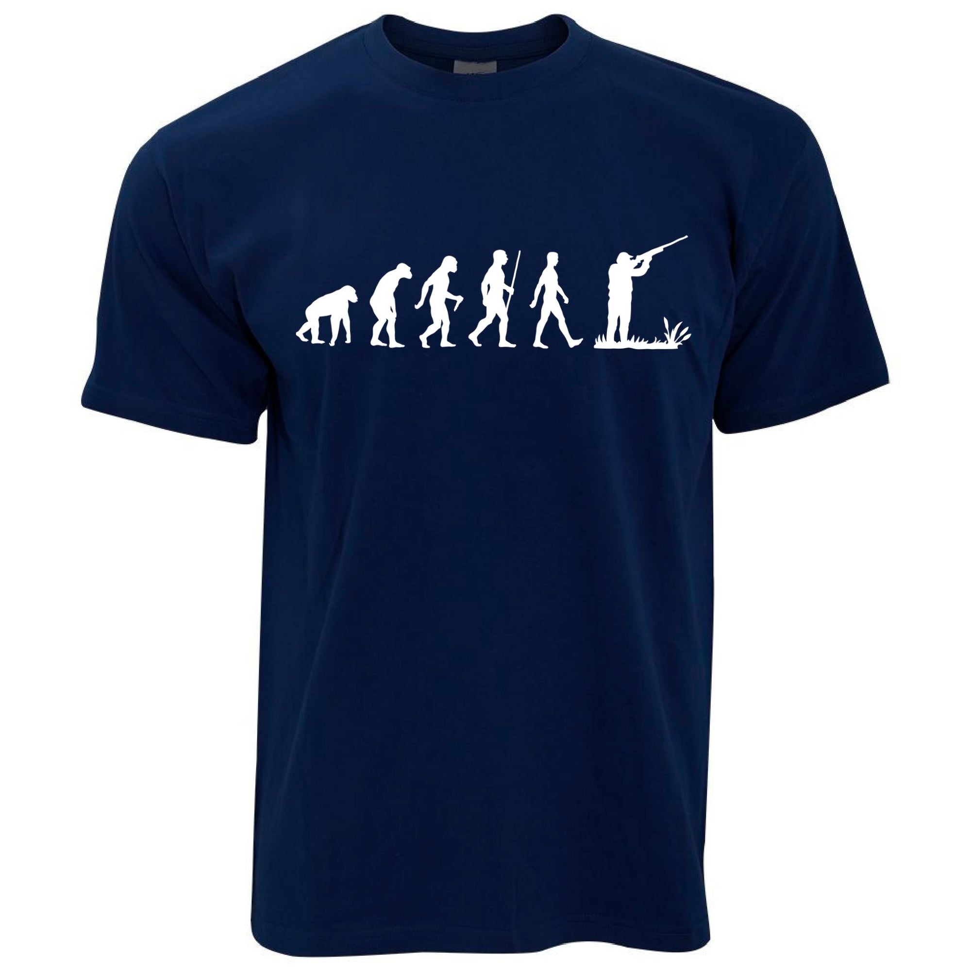 Novelty T Shirt The Evolution of Clay Pigeon Shooting