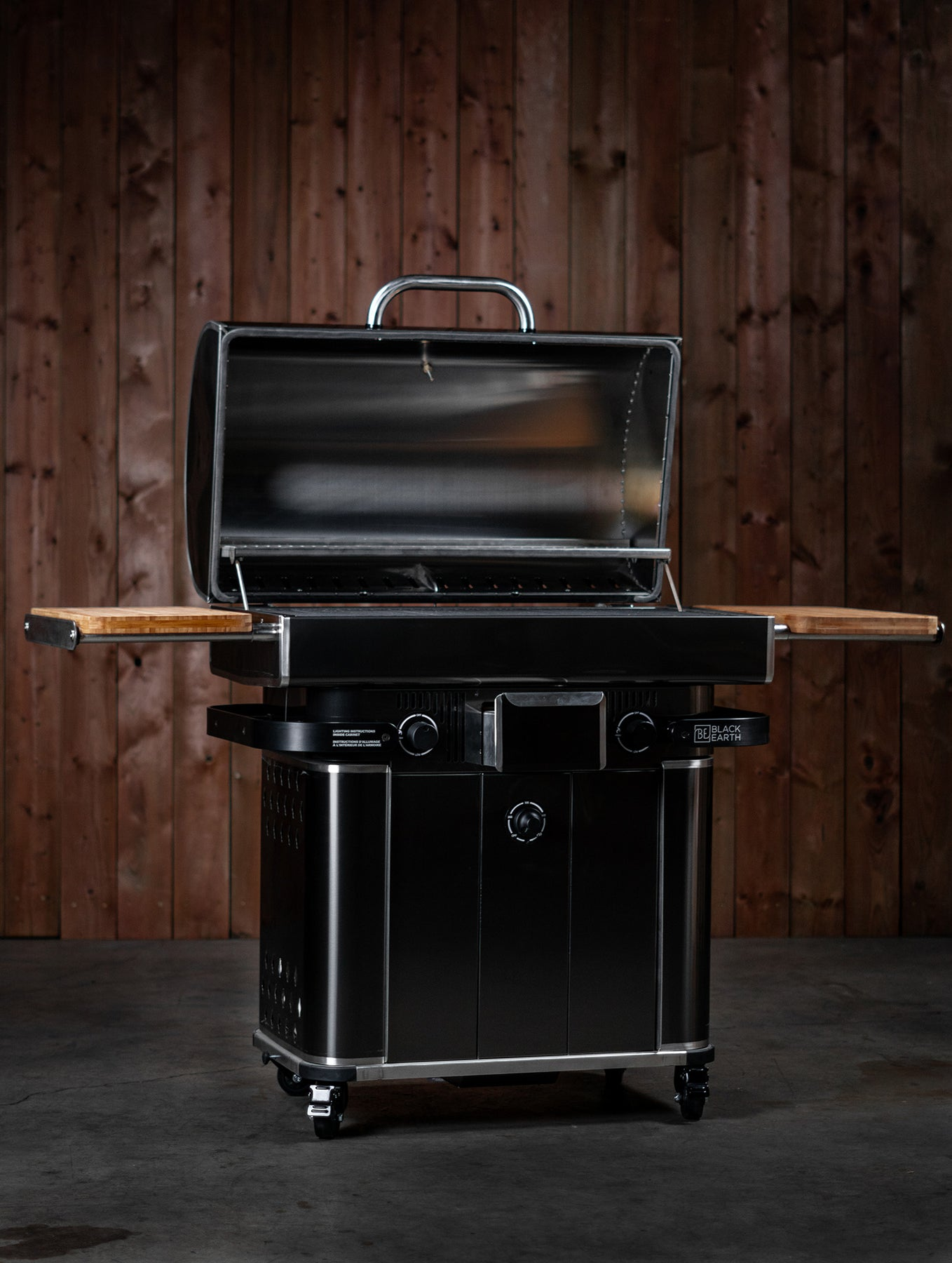 Black Earth Grills Built-in Natural Gas Hybrid Grill Grill Head ONLY