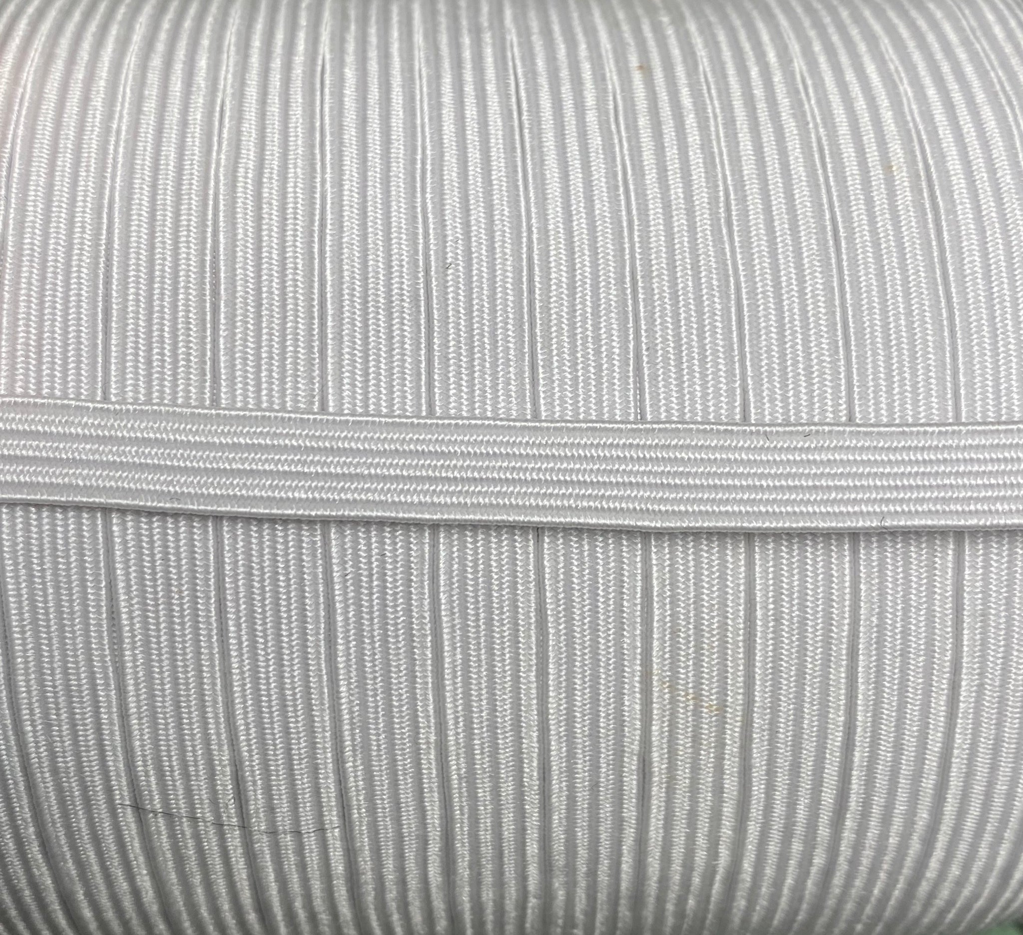 "1/4"" White braided elastic - 1 meter"