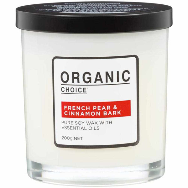 Organic Choice French Pear & Cinnamon Bark Pure Soy Candle mybbbounce