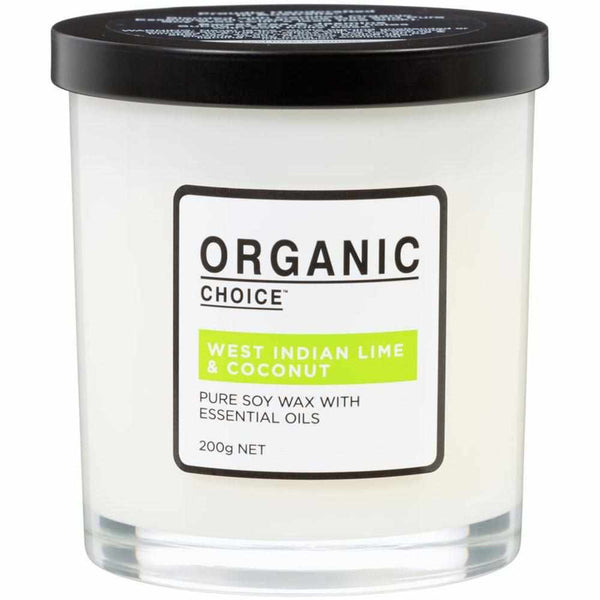Organic Choice West Indian Lime & Coconut Pure Soy Candle mybbbounce